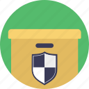 delivery precaution, delivery protection, purchase protection, safe delivery, trusted logistics icon