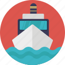 cargo ship, overseas delivery service, seatrade, ship by sea, water shipping icon