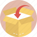 cargo package, delivering goods, delivery box, online order delivery, order management icon
