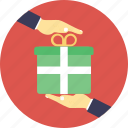 delivery box, delivery package, gift box, gift delivery, gift packaging icon
