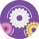 cogs, gears, mechanism, production cycle, productivity icon