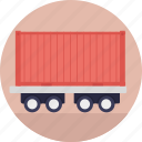 freight train, rail transport, train car, train carriage, train hauling icon