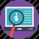browsing, information analysis, information search process, information searching, internet explorer icon