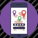 navigation app, navigation software, online gps, online map, online navigation icon