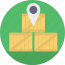 delivery location, delivery map, location pointer, logistic points, shipping address icon