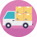 cargo truck, delivery truck, goods transport, logistics delivery, shipping van icon