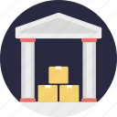 godown, shipment storehouse, storage unit, warehouse storage icon