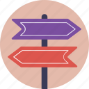 direction teller, finger post, guidepost, road signs, signpost icon