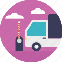 by road delivery, cargo via road, logistics truck, road cargo, road delivery icon