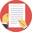 agreement, contract, document, term of policies, terms and conditions icon