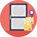 delivery at doorstep, delivery near me, home delivery, logistics delivery, shipping service icon