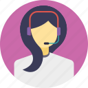 call center agent, customer representative, customer support, helpline, order by phone icon