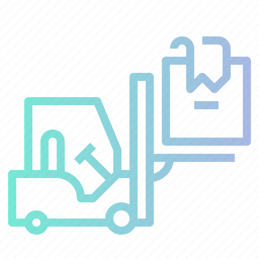 Box, forklift, industry, logistic, shipping icon - Download on Iconfinder