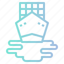 boat, sea, ship, shipping, transport icon
