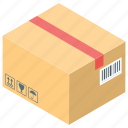 closed box, closed package, delivery, package, parcel icon