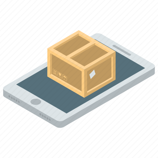 closed box, online package, onlinedelivery, package, parcel icon