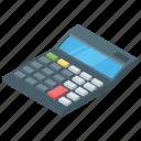 digital calculator, adding machine, calculation, calculator, number cruncher icon