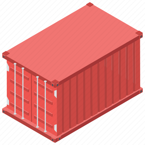cargo container, container, delivery, freight, logistic icon