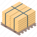 board stack, bundle, delivery, package, parcel, pile icon