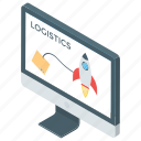 delivery service, logistics network, online logistic, shipping structure, supply chain management icon