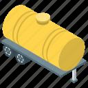 fuel barge, fuel truck, oil tanker, tanker, tanker truck icon