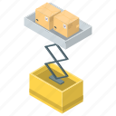 luggage lifter, luggage lifting, luggage uplift, tow icon