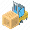 bendi truck, fork truck, forklift truck, loading truck, transportation logistic icon
