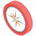 cardinal points, compass, directional tool, gps, navigational icon
