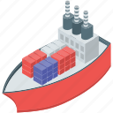 cargo ship, cruise, logistics ship, sailing vessel, shipping boat icon