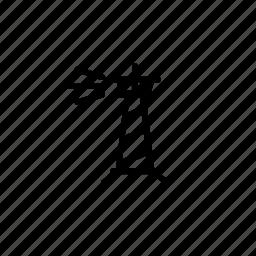 light, sea, search light icon