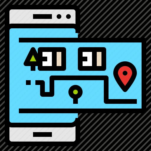 delivery, destination, map, plan icon