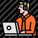 call, center, service, support icon