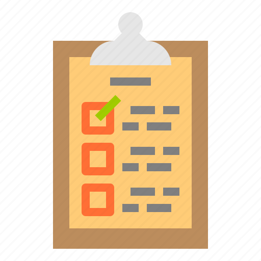 box, check, delivery, document, list icon