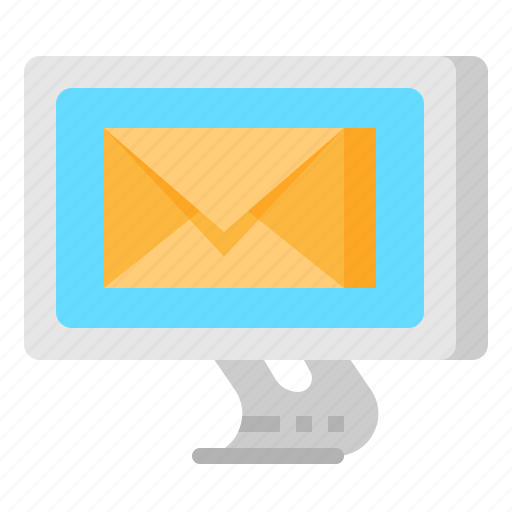 computer, contact, email, envelope, mail, message icon