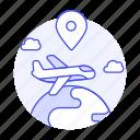 air, cargo, globe, international, location, logistic, plane, service, shipping, supply, transport icon