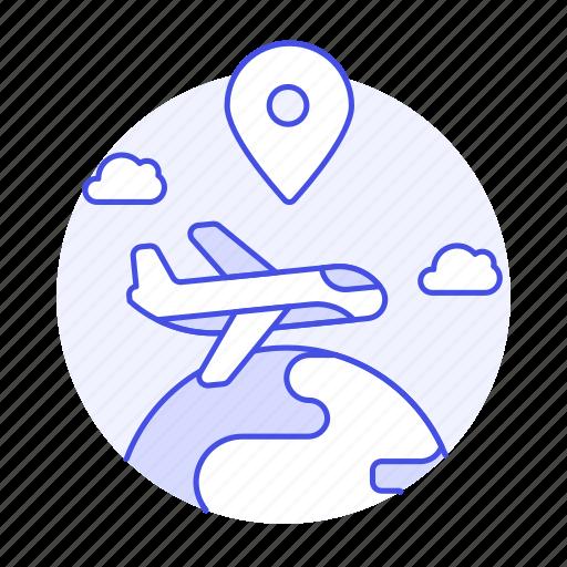 Air, cargo, globe, international, location, logistic, plane icon - Download on Iconfinder