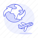 service, logistic, international, cargo, shipping, air, supply, worldwide, plane, transport icon