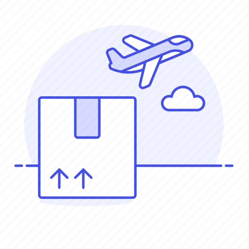 Air, airplane, cargo, freight, international, logistic, package icon - Download on Iconfinder