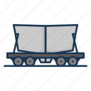 cement, railway carriage, raiway, sand icon