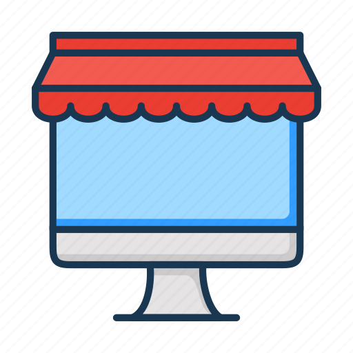 ecommerce, online shop, online shopping, store icon