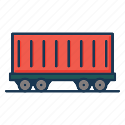 cargo container, cargo vehicle, container, railway carriage, shipping, vehicle shipping icon