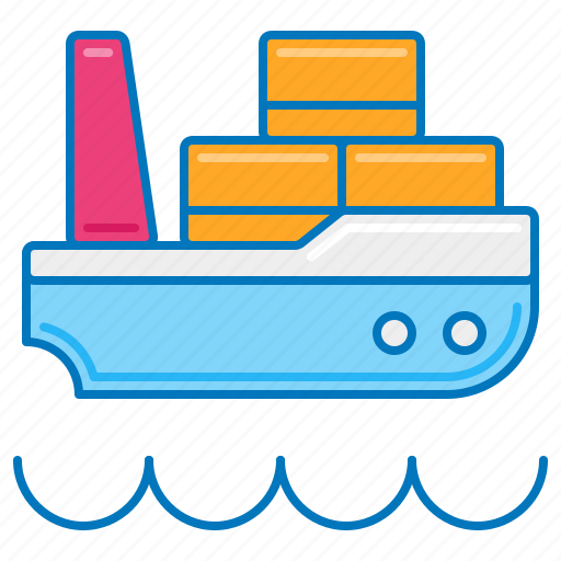barge, cargo, delivery, freight, ship, shipping, transport icon