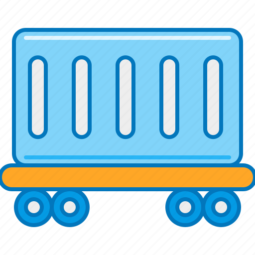 cargo, delivery, shipping, train, trolley icon