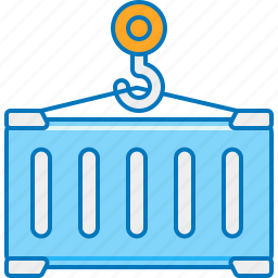 cargo, container, lift, lifter, loading, shipment, shipping icon
