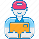 courier, delivery, guy, man, messenger, post, postman icon