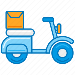 bike, courier, delivery, motorbike, package, parcel, scooter icon