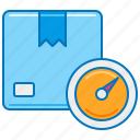 courier, delivery, package, parcel, weighing, weight icon