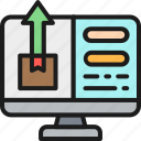 account, application, delivery, monitor, package, tracking, user icon