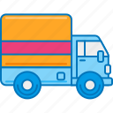 courier service, delivery courier, delivery truck, lorry, messenger service, parcel service, truck icon