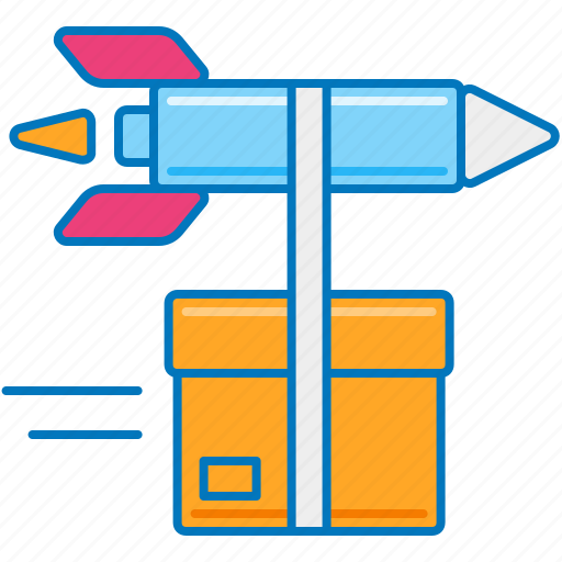 delivery logistics, express delivery, express shipping, fast delivery, fast shipping, rocket delivery, same day delivery icon